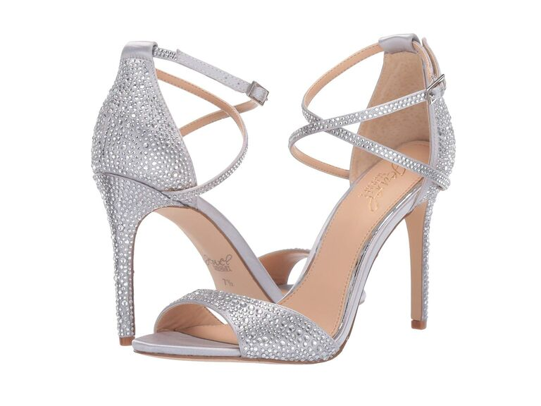 Comfortable silver high heels for wedding