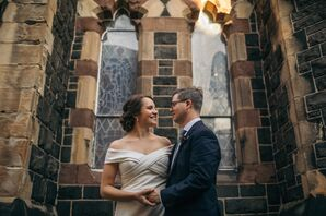 Classic Couple at Church of the Holy Innocents in Hoboken, New Jersey