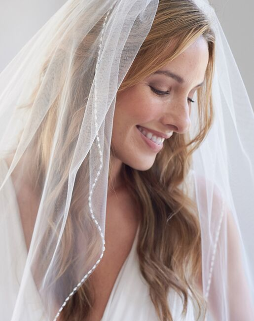 Dareth Colburn Clara Delicate Beaded Wedding Veil (VB-5057) Veil