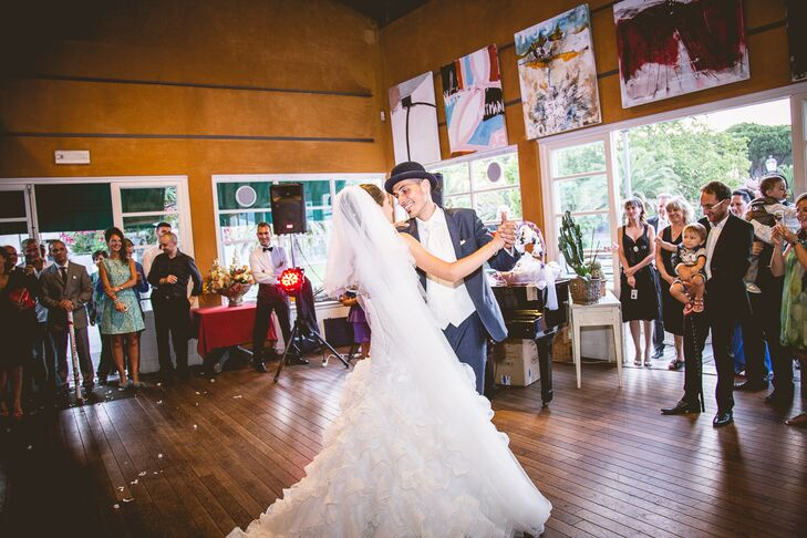 Tiziana and Lorenzo First Dance in Chalet del Lago