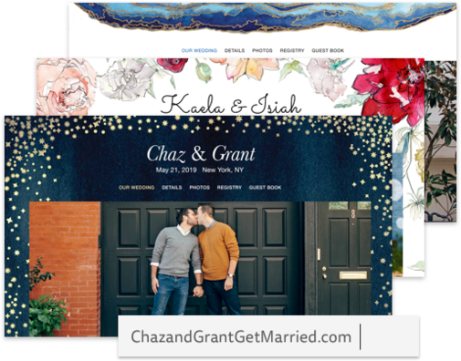 Create Your Wedding Website, The Knot