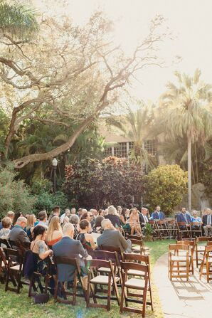 Modern Semicircular Ceremony Seating at Sunken Gardens in  St. Petersburg, Florida