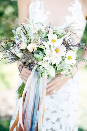 Bouquet with Silk Ribbons