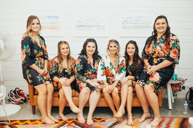 Jordyn and her bridesmaids donned floral-print cover-ups.