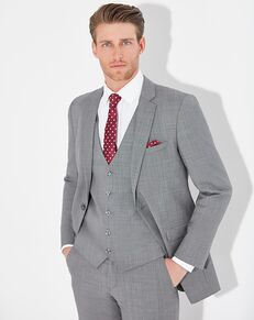 Allure Men Shale Suit Gray Tuxedo
