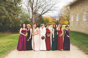 Bridesmaids in Rich Fall Colors
