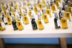 Oil and Vinegar Mini Bottle Escort Cards