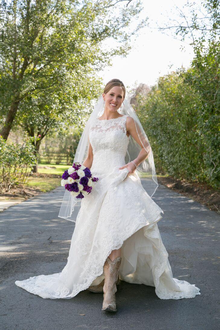 David Tutera A-Line Wedding Dress with Cowboy