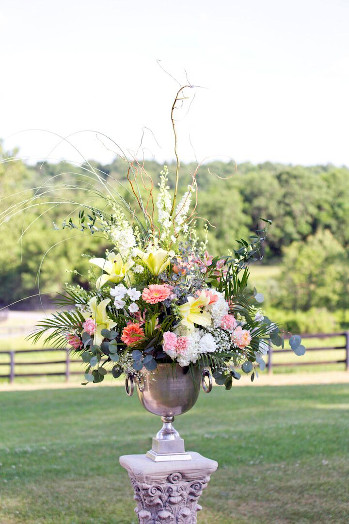 Elegant Lily, Daisy and Garden Rose Floral Arrangements