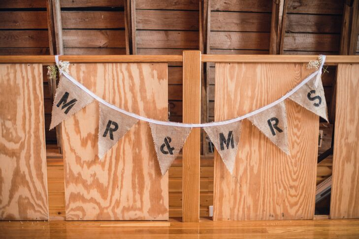 Mr. and Mrs. Pennant Sign