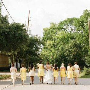 Bridesmaids in Shades of Yellow