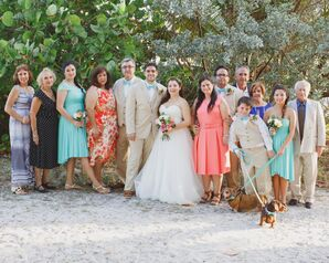 Newlyweds with Family Members