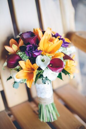 Rustic Jewel Tone Bridal Bouquet