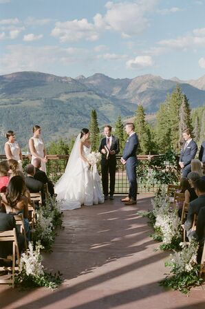Romantic Mountain Ceremony at The 10th in Vail, Colorado