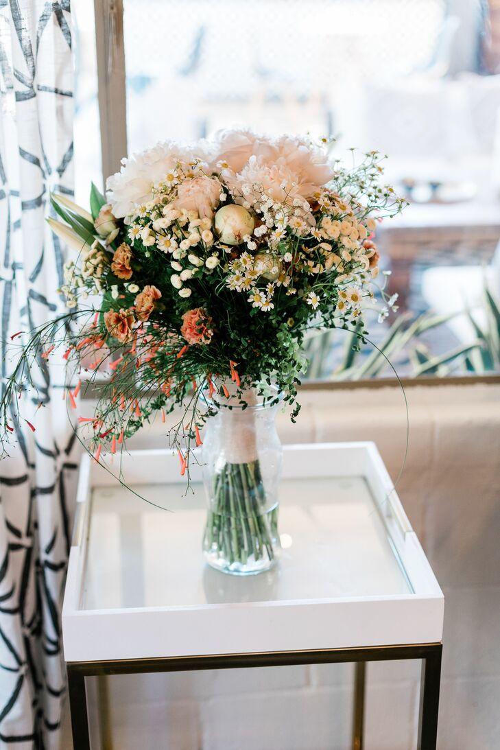 Bohemian Blush Peony and Wildflower Bouquet