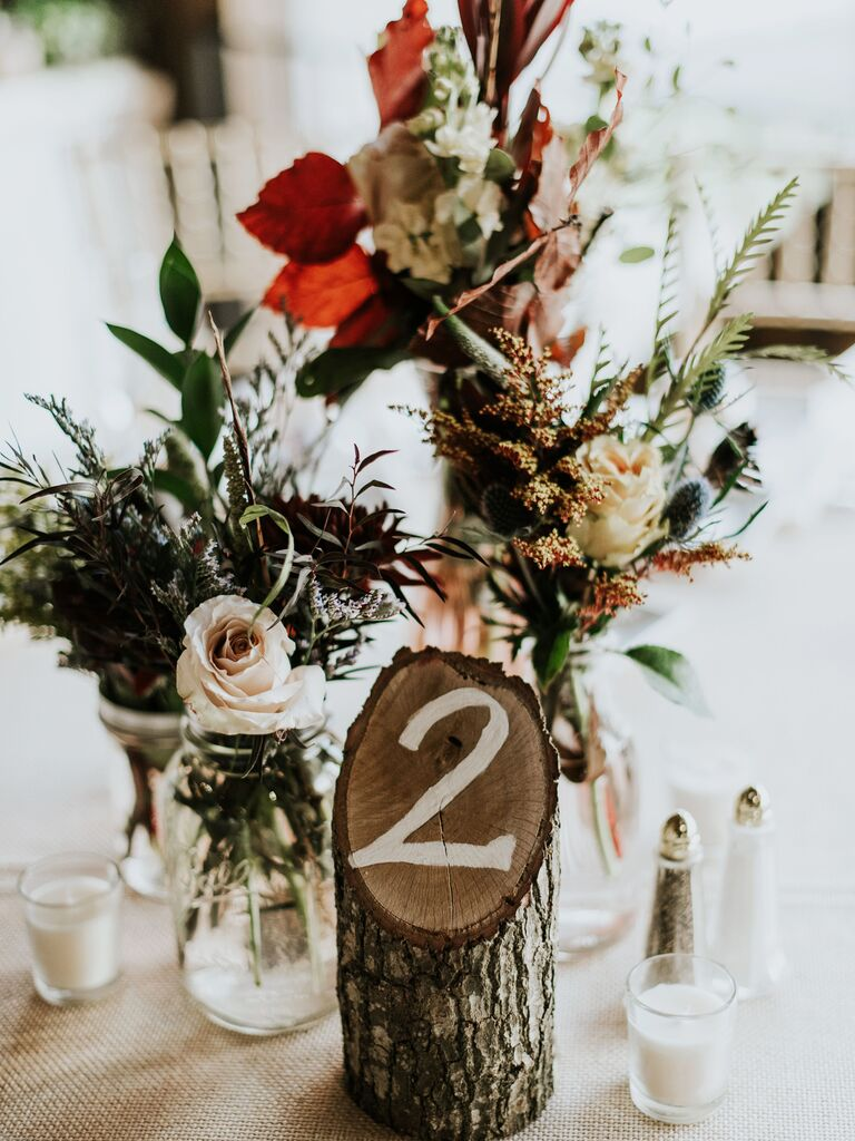 Wedding Centerpieces Wooden Stump