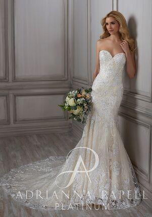 Adrianna Papell Platinum Betsy Mermaid Wedding Dress