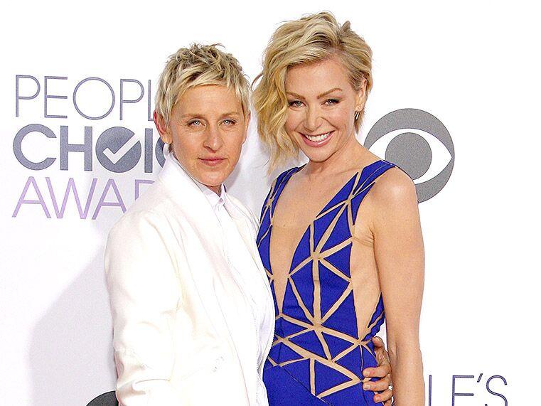 Ellen DeGeneres and Portia de Rossi famous celebrity couples