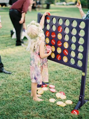 Large Connect Four Yard Game