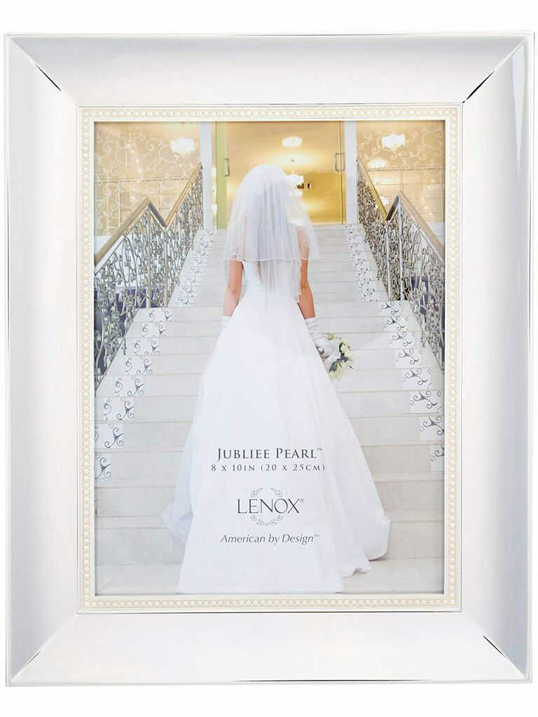 a6c7c8357 Lenox silver picture frame engagement gift ideas