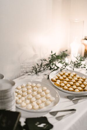 Dessert Table with Mini-Pies and Cream Puffs