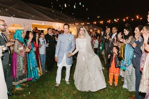 Traditional Exit with Muslim Bride and Groom at The Island House in Johns Island, South Carolina