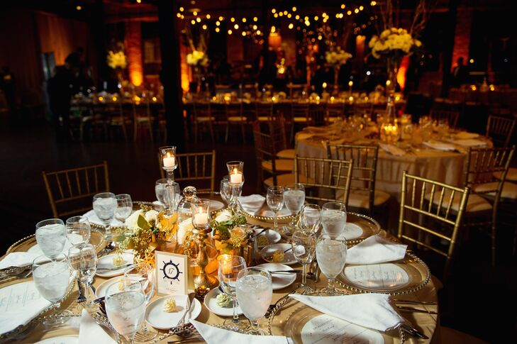 Gold and Ivory Reception Tables