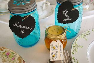 E+M Wedding Favors - Natural Honey Favors