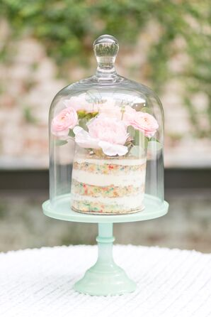 A Mini Confetti Wedding Cake
