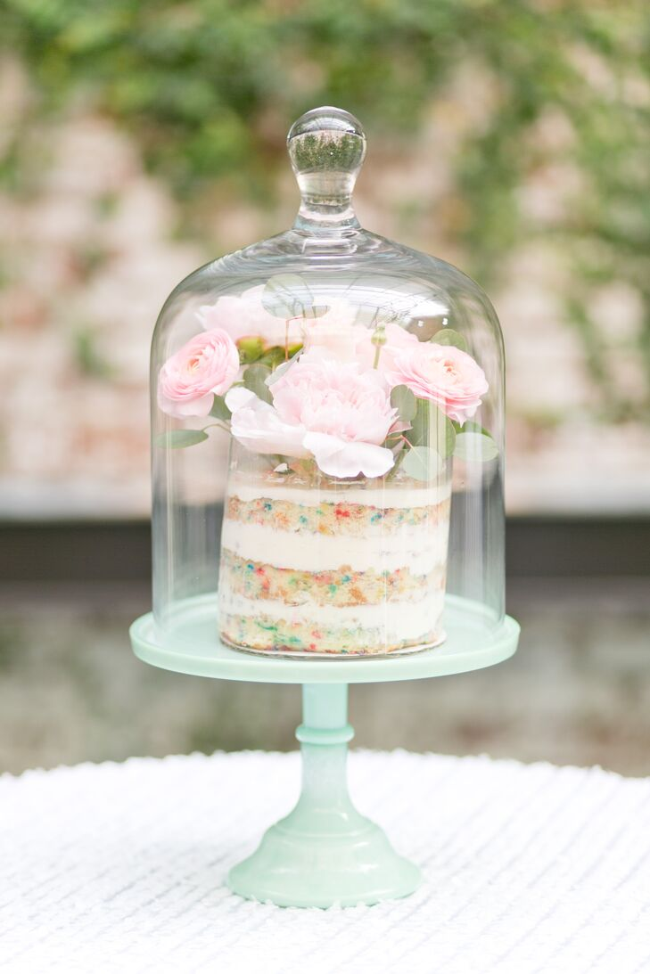 Surprising A Mini Confetti Wedding Cake Home Interior And Landscaping Ologienasavecom