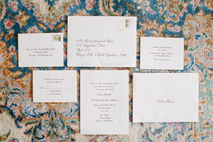 Elegant Black-and-White Invitation Suite