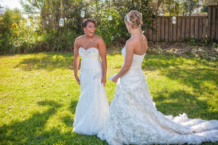 A Simple Backyard Wedding At A Private Residence In Mary Esther Florida