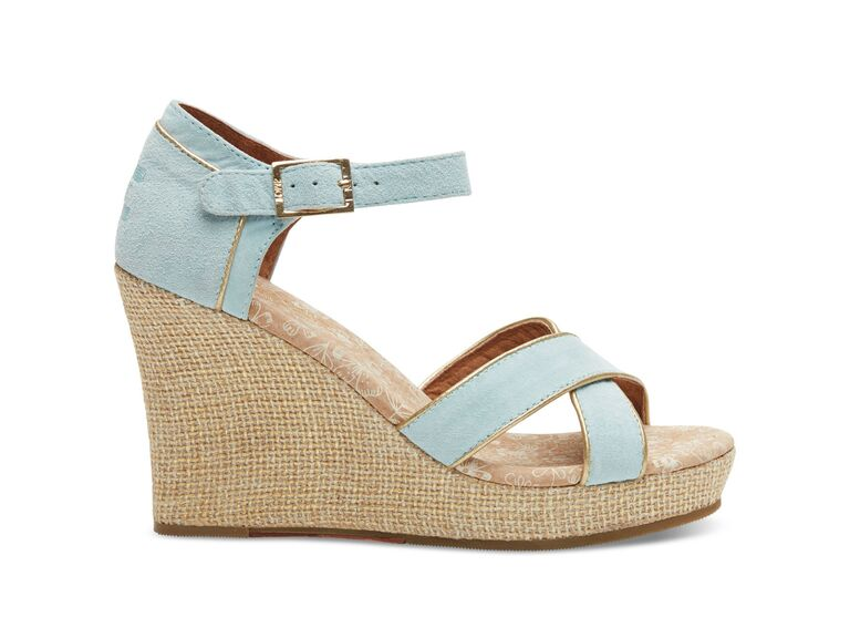 Toms Blue Wedding Wedges