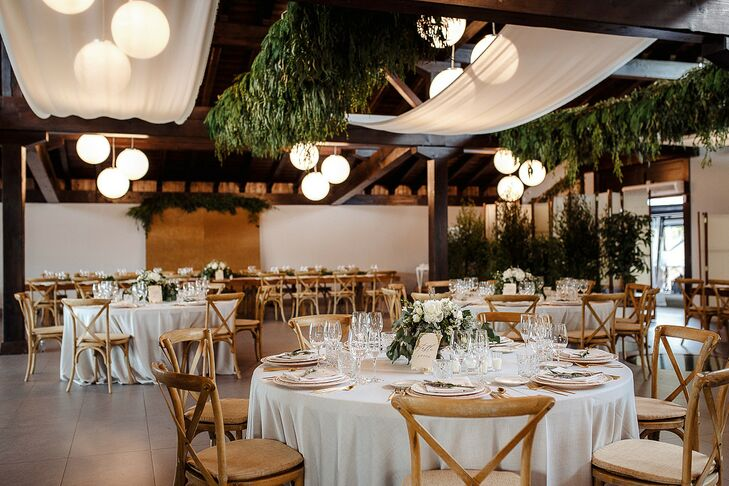 Neutral-Hued Reception Decor for Wedding in San Sebastian, Spain