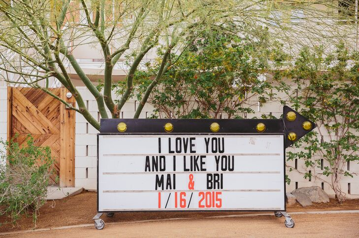 Wedding Movie Theater Sign