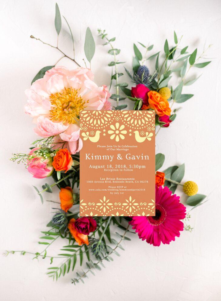 Casual Wedding Invitation with Retro Design