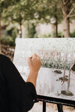 Live Painter for Elegant Wedding