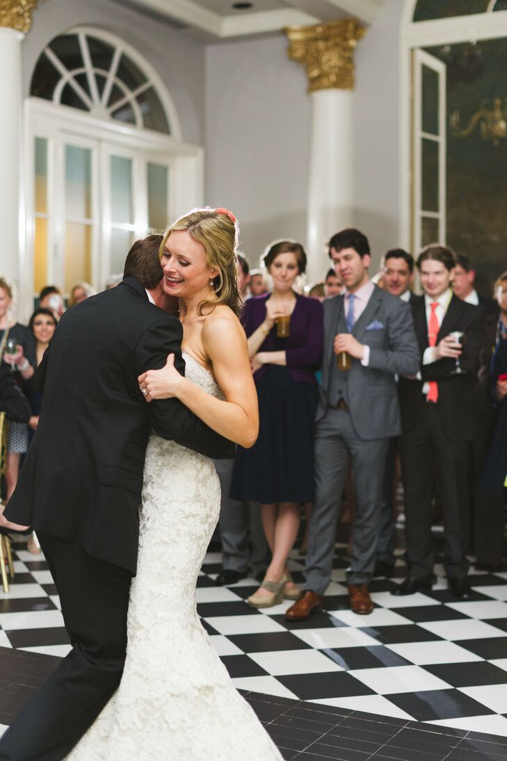 The couple shared their first dance as newlyweds with friends and family at their reception.