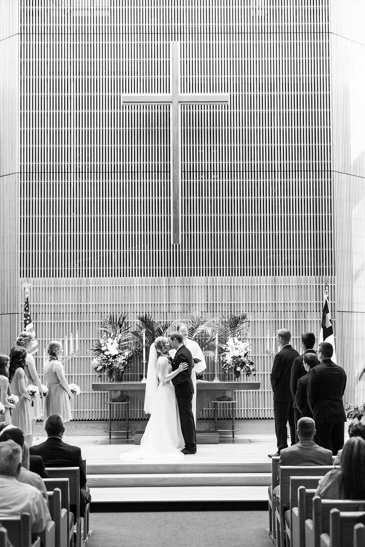 The couple were married in the Lutheran church that Katelyn has attended since childhood.
