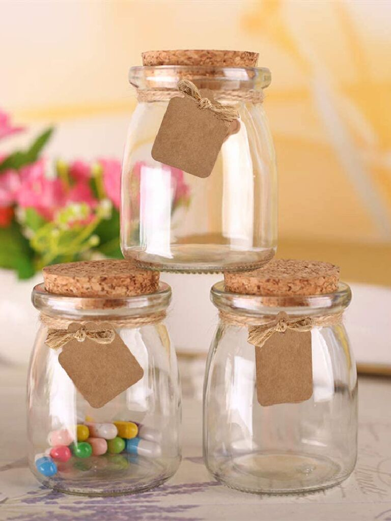 Affordable candy jar wedding favors