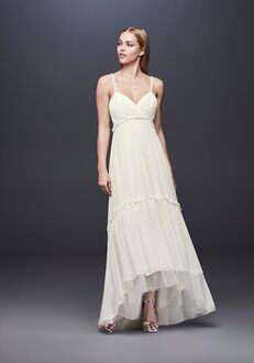 David's Bridal DB Studio Style DS870057 Sheath Wedding Dress