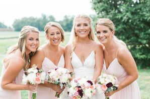 Blush Jim Hjelm Bridesmaid Dresses