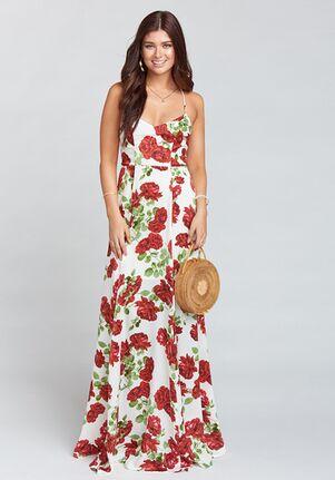 Show Me Your Mumu Godshaw Goddess Gown - Budding Rosemance Ivory Scoop Bridesmaid Dress