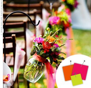 Wedding Color Combo: Hot Pink + Orange + Lime Green