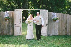 Couple Enters Through Vintage Doors