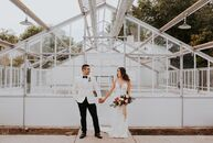 Veronica Armendariz and RicardoAguilar began their day with a traditional ceremony in a Catholic church, then everyone went to Los Poblanos Inn & Org