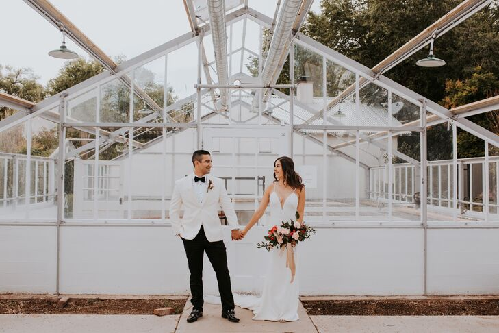 Veronica Armendariz and Ricardo	Aguilar began their day with a traditional ceremony in a Catholic church, then everyone went to Los Poblanos Inn & Org
