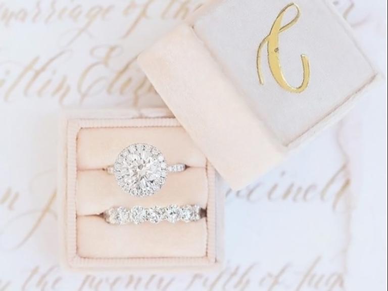 engagement ring holder ideas velvet monogram