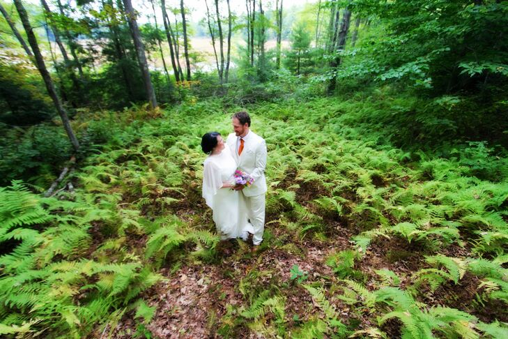 Kristen and Ed's wedding was inspired by their shared interests in the outdoors, the White Mountains, and all things vintage. A gr