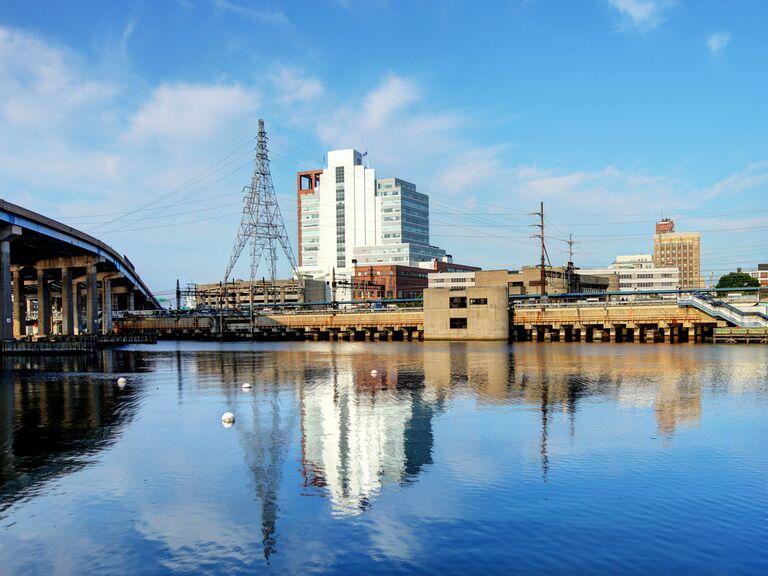 industrial view of Bridgeport, Connecticut